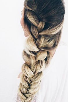 Elegant Ways to Style Side Braid for Long Hair ★ See more: http://lovehairstyles.com/side-braid-long-hair/