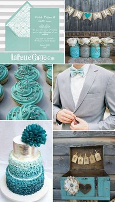 Bright colors are always a source of inspiration for future newlyweds when it's time to choose their wedding decor. That is why today we have chosen a combination you're going to love. Turquoise and gray!