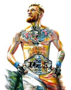 The portrait shown above is not available for purchase. This listing is an example of my painting style.  conor mcgregor