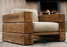 cadeira de madeira rústica
