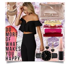 """Happy Hour"" by elabynour ❤ liked on Polyvore featuring Kate Spade, Topshop, e.l.f., Native State, Chopard and MAC Cosmetics"