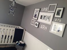 Grey, White, Navy Blue Custom Little Boy Nursery. TO DIE FOR.