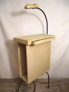 Vintage Mid Century Modern wooden Telephone Stand side table Must See