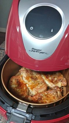 How To Make Perfect Pork Chops In The Power Air Fryer XL - Inspiring Momma Believe it or not, there's now a way to enjoy fried foods without the guilt thanks to Power Air Fryer XL™ from Tristar Products. effortlessly delivers a crispy, fried meal Power Air Fryer Recipes, Power Air Fryer Xl, Air Fryer Oven Recipes, Air Fryer Dinner Recipes, Air Fryer Recipes Pork Chops, Power Airfryer Xl Recipes, Air Fryer Recipes Potatoes, Actifry Recipes, Pork Recipes