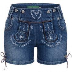 Jeans Lederhose Christl in Blau von Country Line