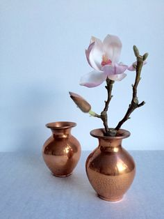 Vintage Vase, Kupfer, Set von zwei,  Mid Century, Germany, Mini von moovi auf Etsy
