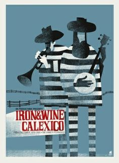 Iron & Wine Concert Poster by RoseMountainPhoto