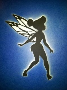 Shark stencil spray paint stencil spray paint paintings for Tinkerbell stencil