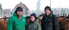 Levi Hull, left, operates a mixed farm with help from his parents, Debbie and Terry.