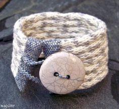 Kumihimo and beadwork cuff #zibbet