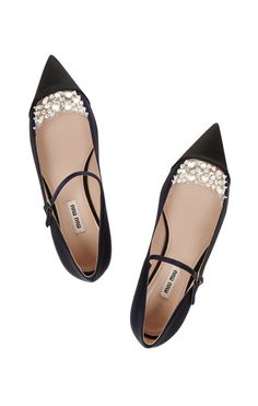 Black flats with crystals. So very elegant. So very comfortable.