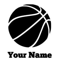 Custom/ personalized basketball decal