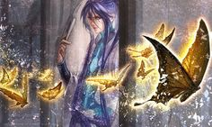 Gackpoid (vocaloid) by ymkw on deviantART Vocaloid, Long Purple Hair, Gakupo Kamui, Pictures To Draw, Image Boards, Art World, Samurai, Art Drawings, Beautiful Pictures