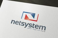 Net System Logo Template by PixaSquare on @creativemarket