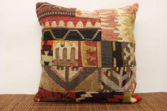 20 x 20 Patchwork Kilim Pillow Cover Decorative by kilimwarehouse, $49.00