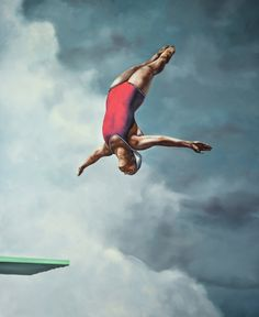 Available for sale from Gallery Henoch, Eric Zener, Leap Of Faith 2 (2016), Oil…
