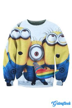 Minions Crewneck - Shop our entire collection of all-over-print apparel! www.getonfleek.com