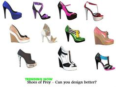 TRENDING NOW at Shoes of Prey - Can you do better?  Trending - Design your shoes -  https://www.facebook.com/pages/Fashion-Trends-and-Discounts/137797606390386?ref=hl