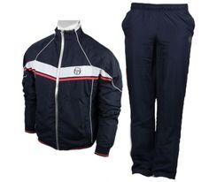 Tracksuits by Sergio Tacchini | Sergio Tacchini - Djokovic Nembo Tracksuit - blue tennis apparel Warm ...