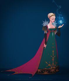 Elsa (Drawing by Shoomlah @deviantART) #Frozen