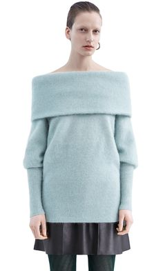 Daze mojair sweater in dull jade green #AcneStudios #PF15