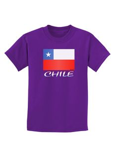 Chile Flag Childrens Dark T-Shirt