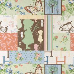 Bomull pastell farger/patchwork print