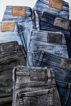 135c8fa9 Light wash, dark wash, medium wash denim, black denim. #SilverJeans. Silver  Jeans Co.