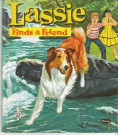 Lassie Finds A Friend 1960 Whitman Tell A Tale Book Collie Dog Doll 2406 | eBay