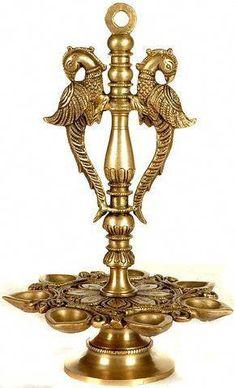 *_* #remodelingadvice Copper And Brass, Bronze, Diya Lamp, Silver Pooja Items, Ethnic Decor, Pooja Rooms, Brass Lamp, Indian Home Decor, Rangoli Designs