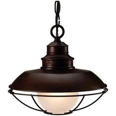 Hardware-House Barnyard - One Light Outdoor Pendant, Classic Bronze Finish with Frosted Glass Porch Pendant Light, Porch Light Fixtures, Lantern Light Fixture, Lantern Pendant Lighting, Ceiling Pendant, Pendant Lights, Ceiling Fixtures, Ceiling Fans, Light Bulb