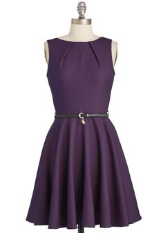 Luck Be a Lady Dress in Violet   Mod Retro Vintage Dresses   ModCloth.com