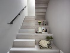 Our brief for this new monolithic staircase was to look more like a piece of art than a staircase. The staircase sits in a Grade 2 listed building and complements the period interior beautifully! After sitting down with the Donohoe's and looking through mood boards, we came up with this design and colour wash. Photo credit: Matt Cant