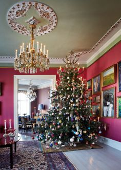 victorian.  holiday.  I miss big, grand trees. Maybe next Christmas, I'll sell all my furniture to make room. :)