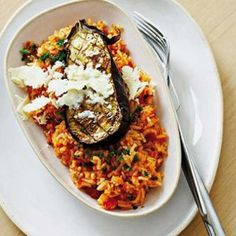 Taste Mag | Baked organic brinjal with tomato rice @ https://taste.co.za/recipes/baked-organic-brinjal-with-tomato-rice/