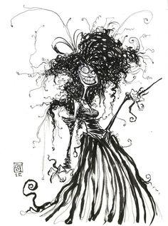 Bellatrix Daily Sketch by Skottie Young