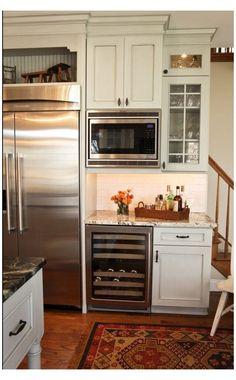 Kitchen Desks, Kitchen Redo, New Kitchen, Kitchen Cabinets, Kitchen Pantry, Inside Cabinets, Kitchen Black, Kitchen Refrigerators, Kitchen Bar Decor