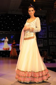 White Lengha-- Manish Malhotra Indian Bridal Fashion Indian Cinema Gala London | Indian Wedding Site