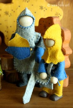 Knight and Squire Rope Dolls | Wee Folk Art
