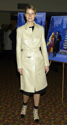 The 40 Chicest Women in Trench Coats of All Time: Gwyneth Paltrow, 2001