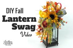 VIDEO Julie Siomacco teaches you how to make a fall lantern swag. This technique can be used to make Christmas Lantern Swags & Halloween Lantern Swags