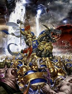Age of Sigmar artwork | stormcast eternals vs skarbrand #art #artwork #artworks #picture #aos #ageofsigmar #sigmar #wh #warhammer #gw #gamesworkshop #miniatures #wellofeternity #wargaming #hobby