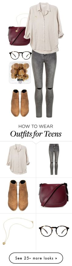 """""""03:05"""" by httpmajo on Polyvore featuring Coach, New Look, Xirena, outfit and dayout"""