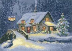 Christmas Cottage (John Clayton) - Cross Stitch Pattern