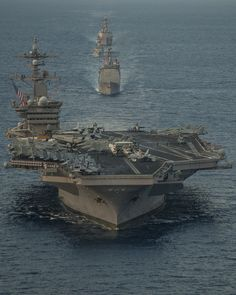 SOUTH CHINA SEA (May 8, 2015) The aircraft carrier USS Carl Vinson (CVN 70), the guided-missile destroyer USS Gridley (DDG 101), the guided-missile cruiser USS Bunker Hill (CG 52), and Malaysian frigate KD Lekir (FSG 26) participate in a bi-lateral training exercise, aimed at developing and expanding bi-lateral exercises with the Malaysian Royal Navy. The Carl Vinson Strike Group is deployed to the U.S. 7th Fleet area of operations supporting security and stability in the Indo-Asia-Pacific…