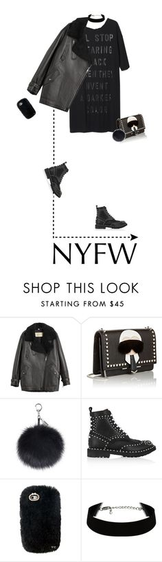 """4/365: NYWF"" by liska-lis ❤ liked on Polyvore featuring Burberry, Fendi, Givenchy, women's clothing, women, female, woman, misses and juniors"