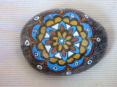 Handpainted+stone++mandala+6+by+Psifides+on+Etsy,+€23.00