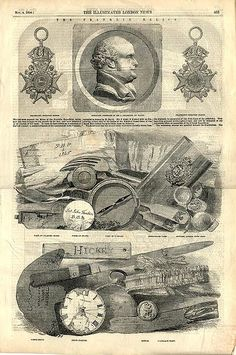 Relics of Franklin's 1845 expedition, from the Illustrated London News, 1854