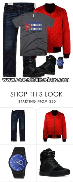 """""""rooted collections - OOTD #36"""" by rootedcollections ❤ liked on Polyvore featuring Hollister Co., Balmain, Skagen, Supra, men's fashion, menswear, ootd and cuba"""
