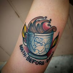 Death before decaf tattoo!